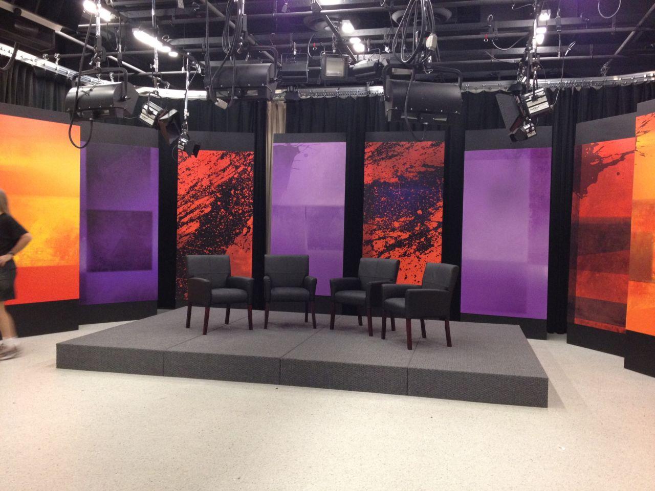 Talk show host thinktech hawaii - Small space studio set ...